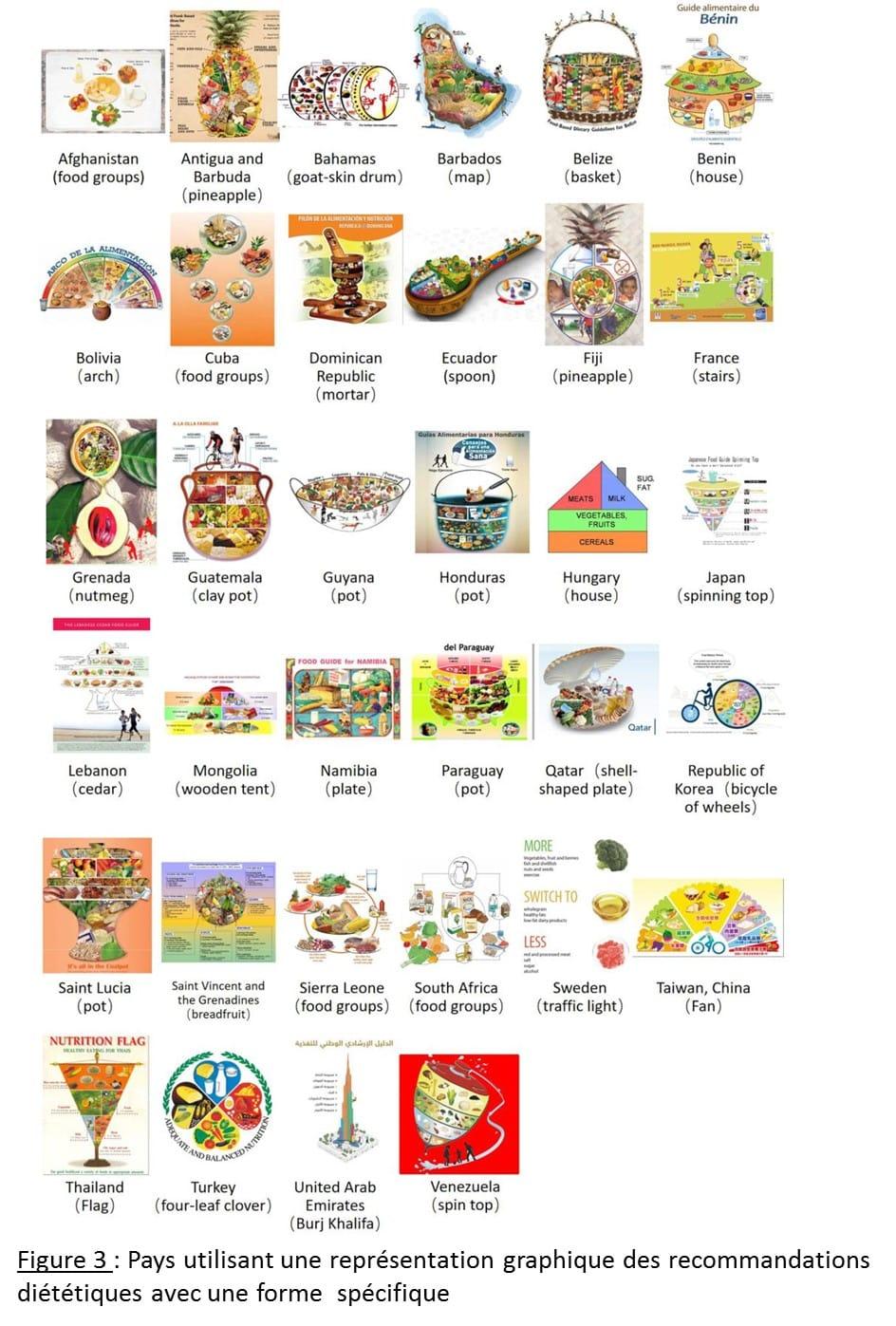 Les recommandations alimentaires à travers le monde